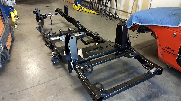 Chassis back from powder coat
