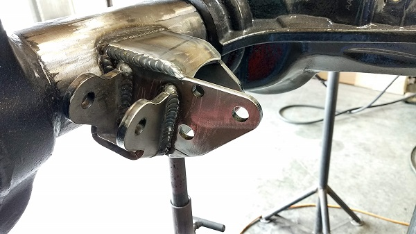 ProRock brackets are welded on