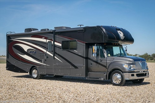 "<img src= ""superC1.jpg"" alt= ""super C motor home with black and grey graphics"" />"